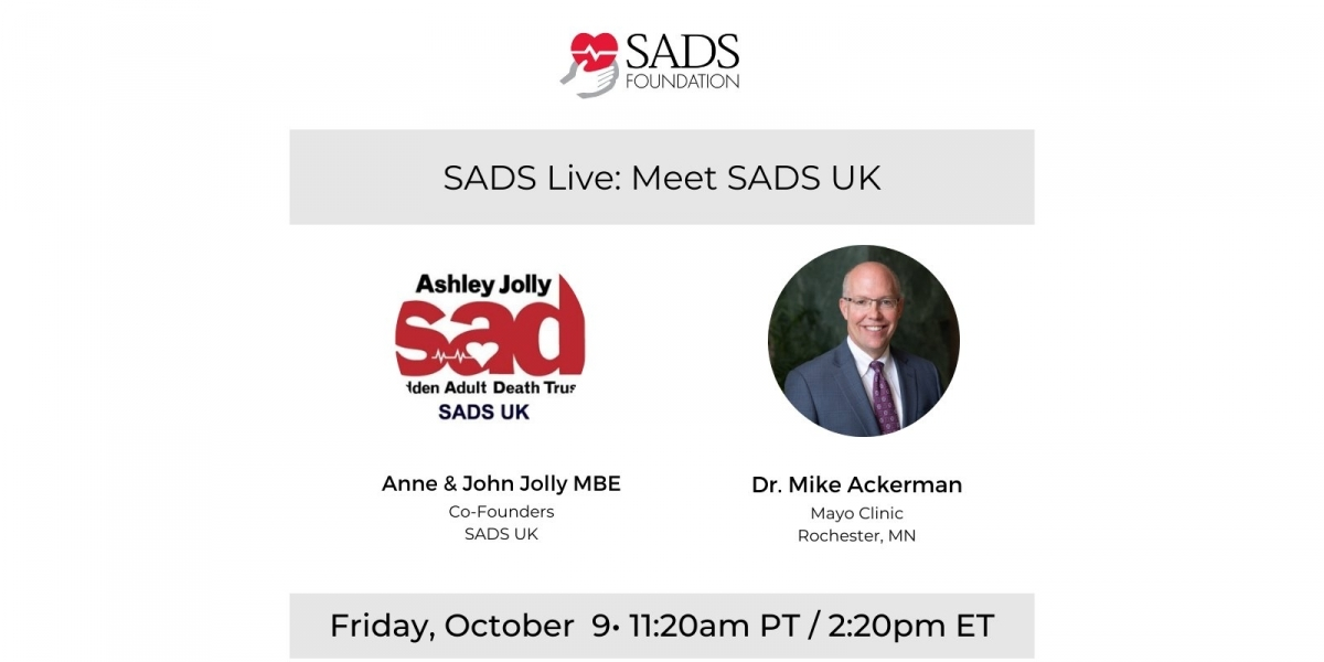 SADS UK speak with Dr Mike Ackerman