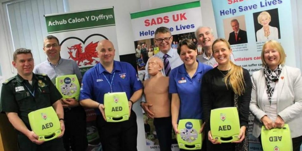 SADS UK partnership in a lifesaving programme to help improve survival rates after a cardiac arrest is being supported with almost £2.5m over the next three years by the Welsh Government.